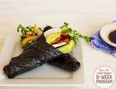 IQS 8-Week Program - Poached Chicken Nori Rolls