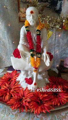 "Om Sai Ram x ""Remember Shree Sai. Sai Baba Pictures, God Pictures, Sai Baba Quotes, Baba Image, My Photo Gallery, Om Sai Ram, Good Night Image, Hare Krishna, Morning Greeting"