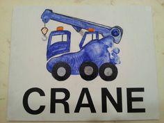 Footprint, truck, crane