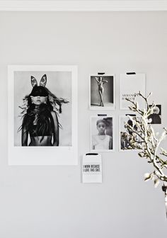 great picture wall via my scandinavian home: The Stockholm Love Warriors Black and white Love Warriors, Dramatic Arts, Diy Inspiration, Black And White Portraits, Scandinavian Home, Life Magazine, Fine Art Photography, Interior And Exterior, Interior Styling