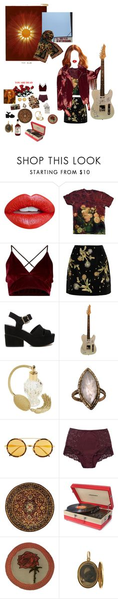 """""""Pause & smell the roses 🌹"""" by shay-heid ❤ liked on Polyvore featuring Nevermind, Topshop Unique, ASOS, Wildfox, Leica, Monki, Safavieh and Crosley"""