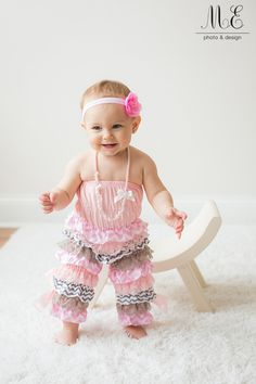 Media, PA 1st Birthday Cake Smash Photography | One Year Old Girl Ruffled Outfit | Floral Headband Baby Girl | Lace and Pearls First Birthday | Pink Ruffled One year Session |Philadelphia Area Creative Children's Portraits #Firstbirthday #girlyfirstbirthday #rufflesandlace #laceandpearls #babygirlturnsone
