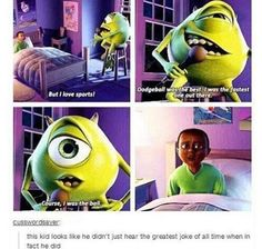 I know this isn't Disney or nick but I don't feel like making another board for Pixar Disney Pixar, Disney And Dreamworks, Walt Disney, Funny Disney Memes, Funny Memes, Funny Blogs, Silly Memes, Disney Facts, Funniest Memes