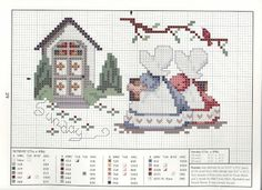 ponto cruz grafico bebe fazenda sunbonnet - Pesquisa Google