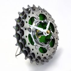 Upcycled bicycle cassette clock