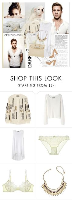 """""""So why don't we just play pretend Like we're not scared of what's coming next Or scared of having nothing left"""" by winfreda ❤ liked on Polyvore featuring Komar, By Malene Birger, Acne Studios, Helmut by Helmut Lang, Elle Macpherson Intimates, Hermès, Lauren Ralph Lauren and Nicholas Kirkwood"""