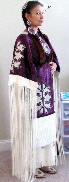 Native American Handmade Regalia (White Buckskin) and Beadwork
