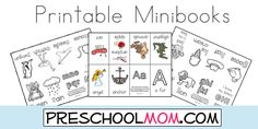 Free Printable Alphabet Minibooks from Preschool Mom