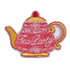 TEA PARTY IRON-ON PATCH $2.50