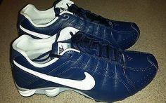 #NIKE Size 9.5 MENS #NikeSHOX JUNIOR NAVY BLUE RUNNING SHOE 454340-402 NEW