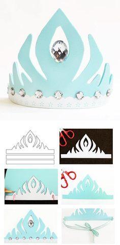 fabriquer une couronne reine des neiges