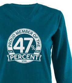 Proud Member of the 47 Percent design from Democrat Brand #47percent #cafepress #47