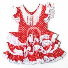 Patrones Traje de Flamenca niña 1 a 5 años   La Hilandera Mercería y Labores