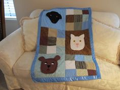 A quilt I made for my great grandson Bradley