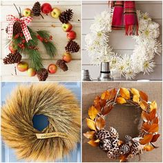 Nice inspiration for autumn wreaths