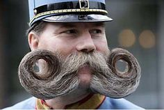 This guy is taking the 'stache trend a little too far. lol ;)