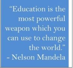 quotes about education - Nelson Mandela