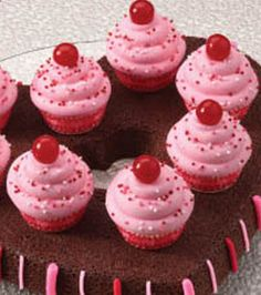 Sweets for your sweet #Brownies with #Cupcakes @Wilton Cake Decorating Cake Decorating