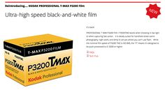 Kodak Alaris is bringing back T-Max P3200 high-speed B&W film  Film photographers are celebrating today after news broke that Kodak Alaris will resurrect another popular product: Kodak T-Max P3200 high-speed black-and-white film. After teasing the resurrection on Twitter a brief press release confirmed the news this morning revealing that the debut will happen some time next month.  Kodak originally discontinued T-Max P3200 film in October of 2012 due to a severe drop in demand directing its…
