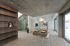 OOOOX | OSICE - dinning room with floating table