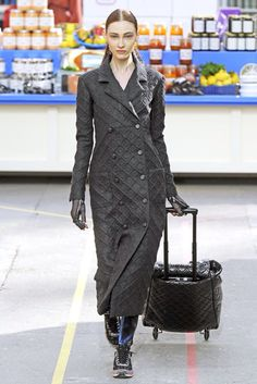 Yes please, the coat and the rolling overhead!                                                     Chanel RTW fall 2014