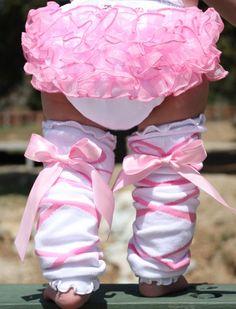 FaithBaby.com | Ballerina Bow Ruffled LegWarmers