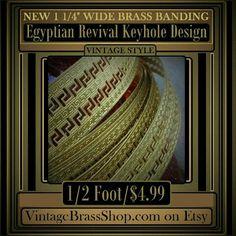 https://www.etsy.com/listing/269386710/new-half-foot-egyptian-roman-keyhole  #ROMAN #EGYPTIAN #BRASS #BANDING  #keyhole #design #hardware #trim  #gallery #wire #vintage #style #arts #crafts  #jewelry #designer #artist #supplies