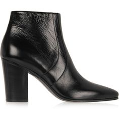 Saint Laurent Textured-leather ankle boots, Women's, Size: 36 (10 170 SEK) ❤ liked on Polyvore
