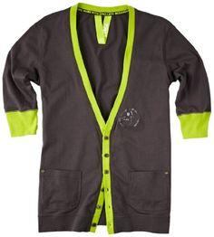 Nice >> Zumba Fitness LLC Jazon Cardigan, Medium, Gunmetal