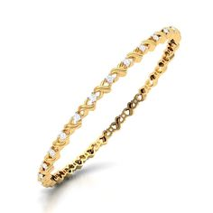 lydie gold diamond bangle