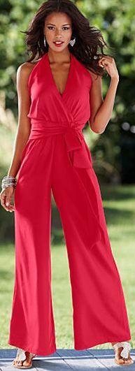 bdda1dd85e84 Halter palazzo jumpsuit from VENUS Palazzo Jumpsuit