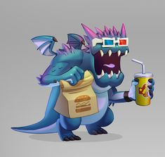 Concepts created for the Game Dragon City. I've designed the complete Fast Food themed island. Dragon City, Sonic The Hedgehog, Concept, Illustrations, Island, Artwork, Fictional Characters, Food, Work Of Art