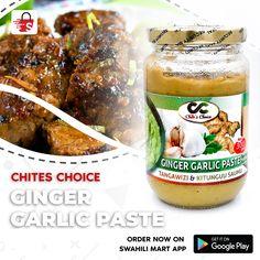 Ginger Garlic Paste - rojo ya mchanganyiko wa tangawizi na vitunguu saumu. Mahususi zaidi kwa pilau, rosti za nyama na mbogamboga. Kupata bidhaa hii weka oda yako www.swahilimart.co.tz au pakua application yetu kwakuclick link bit.ly/swahilimart-app. Garlic Paste, Pickles, Cucumber, Beverages, Link, Food, Essen, Meals, Pickle