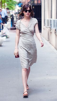 Dakota Johnson looking very summery in NY - 17 May 2015