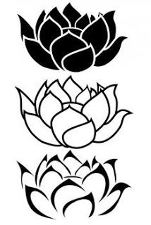 Lotus tattoo black and white