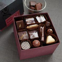 Recchiuti Confections - The Burgundy Box Assortment of Fine Chocolates
