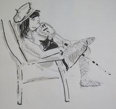 Chris F: Dr Sketchy's sketch 16 ink on paper