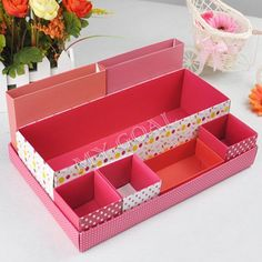 DIY Desk Storage Box Desktop Makeup Cosmetic Container Organizer Bag Case Table[200302] $7.77