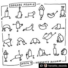 #Repost @herzette_records with @repostapp ・・・ In week 4 of the #visualvocabulary #drawingchallenge @therevisionguide gave us the assignment to #draw #squared #people - my squareguy is doing some #yoga ------------------------ #doodle #drawingpractice #sketch #squaredpeople #yogaposes #drawing ------------------------ #TheRevisionGuide_52wvv #52wvv_week4