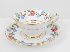 Vintage Copelands Grosvenor China Tea Cup Set:)