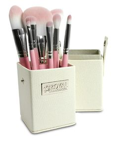 Take a look at the Pink Eight-Piece Travel Brush Set on #zulily today!