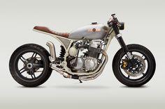Star Struck: A NASA-inspired Honda CB 750 cafe racer.