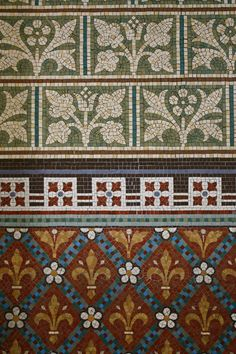 Mosaic tile design, Cathedral of St. Patrick and St. Colman, Newry, Ireland  (photo by Ellen B., 2009)