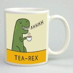 Tea rex mug - Cute T-rex mug - Printed mug - Dinosaur mug - 11oz white mug - Kitchenalia - Funny mug - Kids mug - Gift