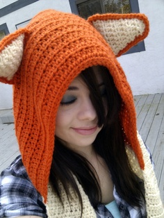 Crochet Wool Fox Scoodie // Made to Order by stitchesbybrooke