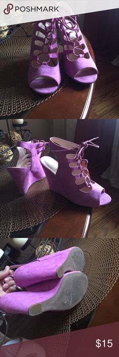 Wild diva wedge Great condition wedge, light purple very comfortable true to size Wild Diva Shoes Wedges