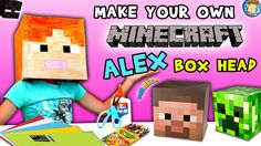 HOW-TO Make a MINECRAFT ALEX Box Head!  (FUNnel Vision DIY Cosplay Tutor... Minecraft Classroom, Minecraft Box, Minecraft Heads, Minecraft Costumes, Cosplay Tutorial, Cosplay Diy, Funnel Vision, Alex Box, Make Your Own