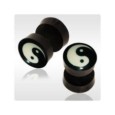 fake Gauge Plugs in Ears | ... Items: - Organic Plugs > Fake Plugs Piercing > Faux Ear Gauges