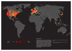 """Some guys thought that would be cool to map the zombies, and using a keyword search for """"zombies"""", they created  The Zombie map of the world, that visualizes the concentrations of references with the Google Maps database."""