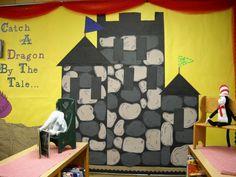 Easy castle for bulletin board.